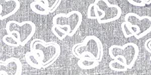 "White Organza Locking Heart Cut Edge Craft Ribbon 2"" x 50 Yards"
