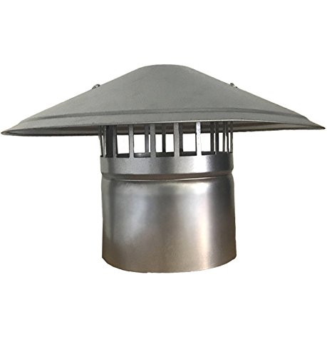gardeners corner Hydroponics Extraction ventilation Ducting Roof Cowl Chimney 2 3 4 5 6 8 Inch (2