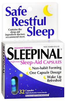 Sleepinal Sleep Aid Capsules - 32 ct, Pack of 2