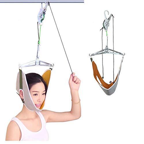 HMAMERÂ Over Door Cervical Traction Kit,Hook Suspension Cervical Traction Frame for Neck Shoulder Pain Brace Head Relief Set Unit Home