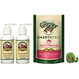 Healthy Cat Bundle of Grizzly Salmon Oil Omega-3 Fatty Acids All-Natural Cat Food Supplement, Feline Greenies Smartbites Salmon for Skin and Fur, and Grassland Pets Micro Mouse! (2 Pack 4 oz.)