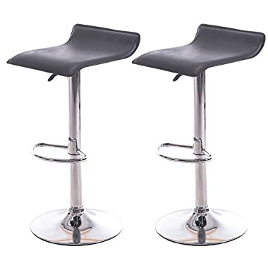 MISTER CHAIRS Noho Stools (Set of 2), Black