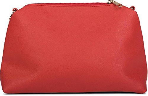 bolso bolso de bolso de set color 02012164 metal laterales señora de hombro para remaches styleBREAKER de Rojo bolsos azul de bandolera compras decoraciones de con UZd7q0nw