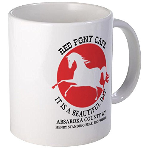 CafePress Red Pony Cafe Mugs Unique Coffee Mug, Coffee ()