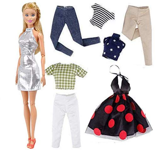 yamaso 5 Sets Clothes Outfits Accessories for 11.5 Inch Girl Doll