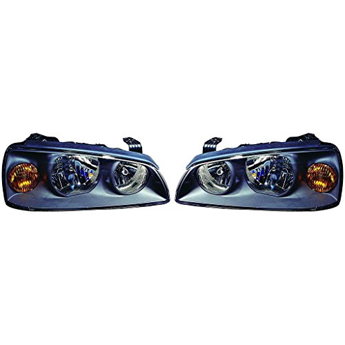 Fits Hyundai Elantra 2004-2006 Headlight Assembly Pair Driver and Passenger Side (NSF Certified) HY2502130, HY2503130 ()