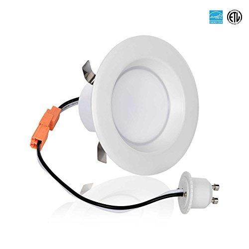 Light Blue 3-Inch LED Downlight Retrofit, GU10 Base, 8-Watt (50W) Soft White 3000K, LED Retrofit Recessed Lighting Fixture, 560 Lumens, Dimmable, - Blue Retrofit