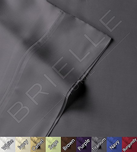 Read About Brielle 100-Percent Rayon Bamboo Duvet Cover, Full/Queen, Titanium
