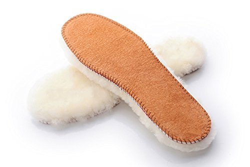 Price comparison product image Australian Sheepskin Super Thick Premium Warm Shoe Insoles Durable & Extra Fluffy (Men US 13)