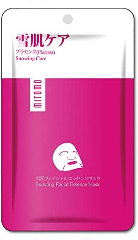 MITOMO PREMIUM Face Sheet Mask. Made in Japan. Pack of 6 (25g x 6) (6 Masks sheets Premium Snowing with Placenta)