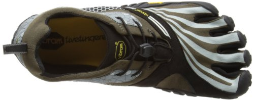 Vibram 5 Fingers Homme Trail Running (Military Green/Grey/Black), 41 eu