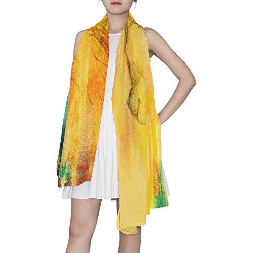 Multicolore Léger Alaza Coloré Licorne Vintage Écharpe Femme Dessin PPqrnS0
