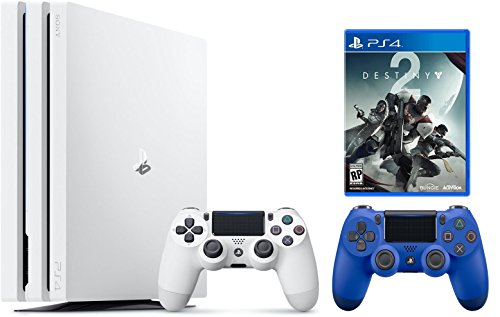 PlayStation 4 Pro Console Bundle: PS4 Pro 1TB Console Destiny 2 Bundle with Extra PS4 Dualshock 4 Wireless Controller – Wave Blue