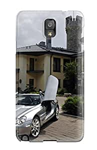 Fashionable Style Case Cover Skin For Galaxy Note 3- Mercedes Mclaren Roadster Wallpaper