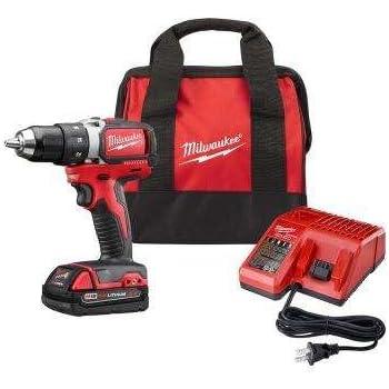 "Milwaukee 2701-21P M18 18-Volt Cordless 1/2"" Compact Brushless Drill/Driver Kit"