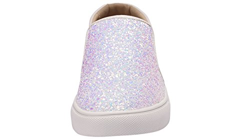Sofree Shoes Flat Comfortable Slip Sneakers Fashion Glitter Women's White On ZqFZwTr