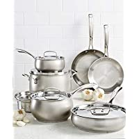Deals on Belgique 11-Pc. Stainless Steel Cookware Set