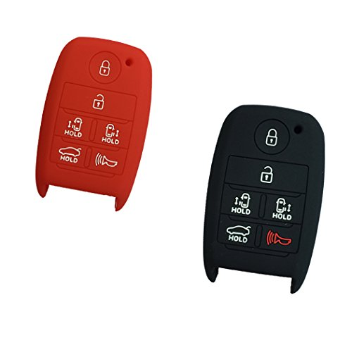 2pcs-new-red-and-black-silicone-protector-remote-smart-6-buttons-key-skin-cover-holder-bag-for-kia-s