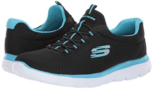 Skechers Summits Black/Turquoise 6.5