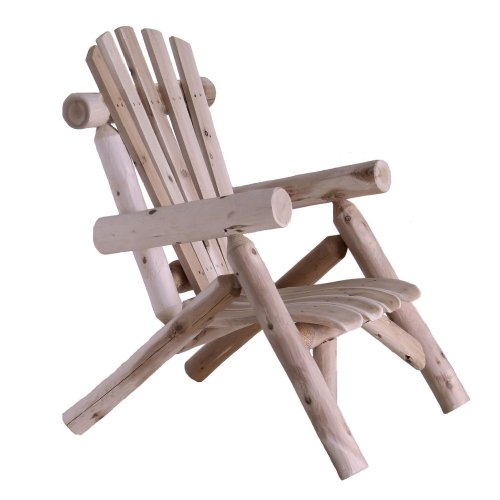 (Lakeland Mills Cedar Log Lounge Chair, Natural )