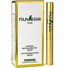 Nuvega Lash Natural Vegan Eyelash & Eyebrow Growth Serum - Clinically & Opthalmologist Tested - Longer, Darker, Thicker Looking Eyelashes