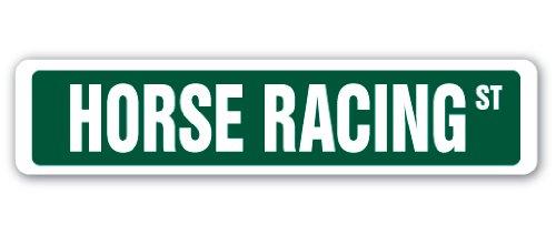 Horse Racing Street Sign Race Racer Competition Jockey Track | Indoor/Outdoor | 18