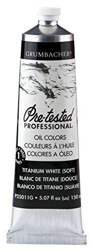 Grumbacher Pre-Tested Oil Paint, 150ml/5.07 Ounce, Titanium