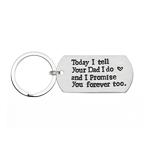 Ms. Clover Blended Family Stepson Stepdaughter Wedding Gift, Bride's Son Groom's Son Marriage Keychain by Ms. Clover (Image #7)