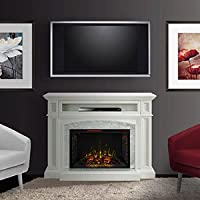 Drew Cabinet White & 33 Infrared Firebox