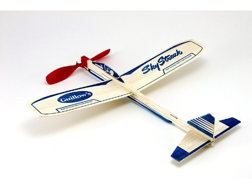Guillow's Balsa Airplane Sky Streak Rubber Band Power Prop Plane Lot Of 6 ()