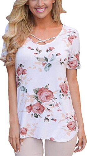 UGET Womens Floral Sleeve T Shirt product image
