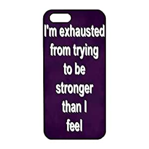 iPhone 5/5S Case,Fashion Durable Black Side Diy design for Apple iPhone 5/5S(4.0 inch),PC material iPhone 5/5S Cover ,Safeguard Phone from Damage ,Designed Specially Pattern from our Life with Stay Strong inpirational quotes Designed on Purple .Maris's Diary