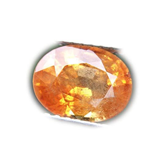 (Lovemom 1.94ct Natural Oval Orange Songea Sapphire Tanzania #R)