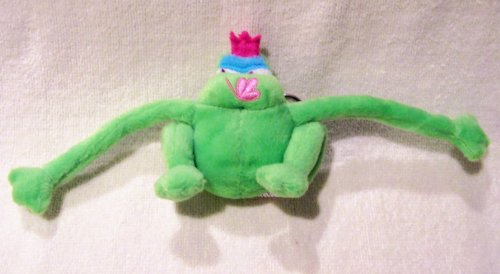 - Green Prince Charming Plush Frog keychain Pink Butterfly Mouth by GMA Access