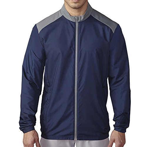 - adidas Golf Men's Golf Club Wind Jacket, Navy, Large
