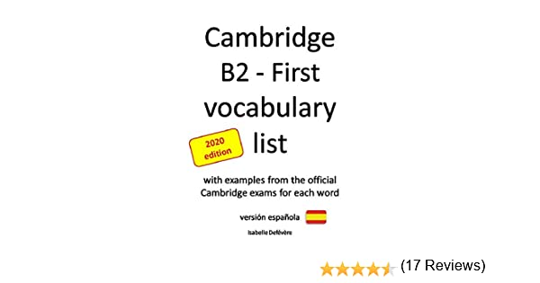 Cambridge B2 - First vocabulary list (versión española) (English ...