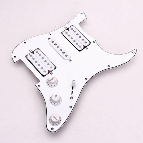 SODIAL(R) Prealambrado cargado guitarra electrica Golpeador Pastillas 11 Agujero HSH Blanca: Amazon.es: Juguetes y juegos