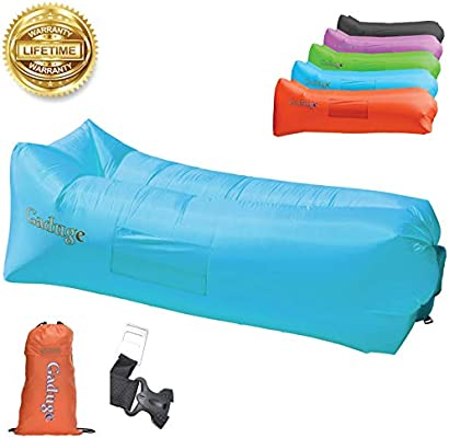 Admirable Gaduge Upgraded 2019 Giant Inflatable Lounger Chair Hangout Sofa With 10 Useful Accessories In 8 Fun Colors Waterproof Inflatable Couch Bed For Gmtry Best Dining Table And Chair Ideas Images Gmtryco