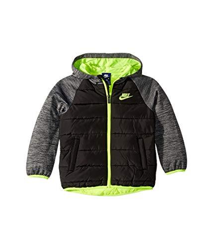 Nike Kids Boy's Sportswear Therma Fleece Jacket (Little Kids) Black 6