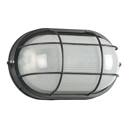 Sunset Lighting F7993-31 Outdoor Flush Mount with Frosted Glass, Black Finish