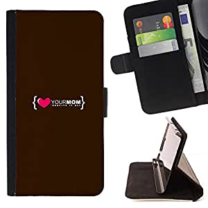 DEVIL CASE - FOR Samsung Galaxy Core Prime - Love Heart Mom Mother Family Quote - Style PU Leather Case Wallet Flip Stand Flap Closure Cover
