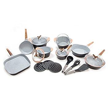 Juego de 25 piezas, sartenes y cazuelas Premium Black | Koch Set compuesto de ollas