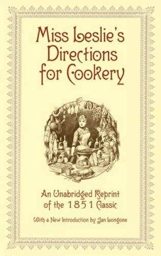 Read Online Miss Leslie's Directions for Cookery ebook