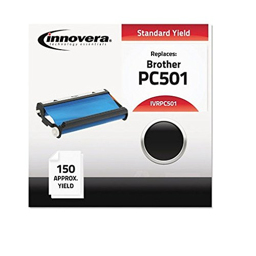 Fax Toner Cartridge for Brother IntelliFax 575 (compatible) Black (IVRPC501), 6 Packs