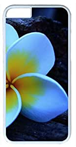 White Petals with Yellow Spots Flower Customized Hard Shell White iphone 6 plus Case By Custom Service Your Perfect Choice