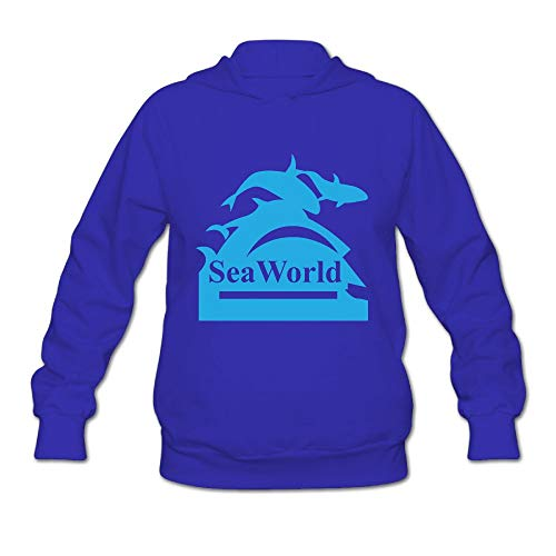 Women's Seaworld Logo Long Sleeve Hooded Sweatshirt by QTHOO