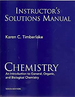 instructor s solutions manual chemistry an introduction to general rh amazon com
