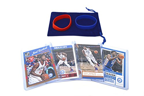 2015 Topps Nba Basketball - Joel Embiid Basketball Cards Assorted (4) Bundle - Philadelphia 76ers Trading Cards