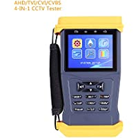 CCTV Security Camera Monitor Tester for 3.0MP AHD/CVI/TVI Camera Tester ,UTP Cable Test/Audio Video Test /PTZ Test&Control/RS485 12V/1A Output 3.5 Inch LCD Security Tester