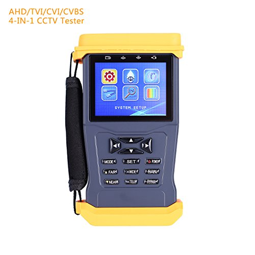 CCTV Security Camera Monitor Tester for 3.0MP AHD/CVI/TVI Camera Tester ,UTP Cable Test/Audio Video Test /PTZ Test&Control/RS485 12V/1A Output 3.5 Inch LCD Security Tester (Ptz Control Rs485)